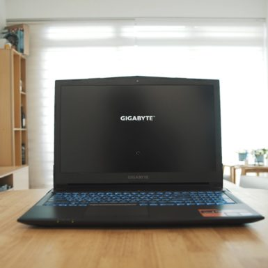 Gigabyte Sabre 15 black gaming laptop