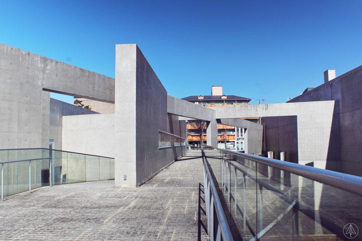 Massive bare concrete walls